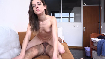 Having some fun with the double ended dildo - Chatroulette Porn