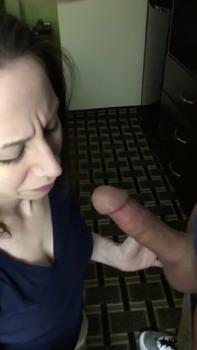 Real Wife gives Husband great POV blowjob - Snapchat Porn