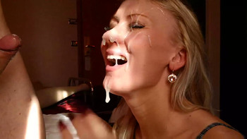 Amateur Fit Tiktok Blonde Pigtails has Real Shaking Orgasm