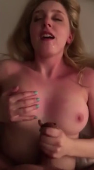 Husband fucks wife doggystyle, watch me cum on his dick - Snapchat Porn