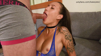 Double blowjob from a blonde and brunette POV - OnlyFans Porn