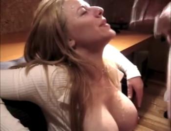 A secretary riding boss dick - Skype Porn